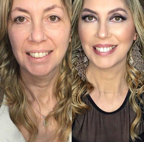 антивозрастной макияж фото до и после