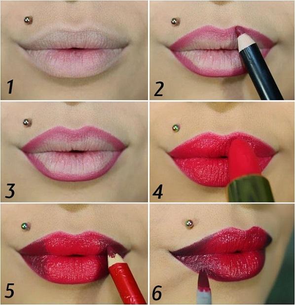 как красиво накрасить губы фото брухли защитная функция