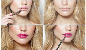 Как выбрать цвет карандаша для губ под помаду - 4 правила